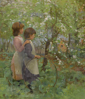 Painting - The Orchard by Elizabeth Forbes