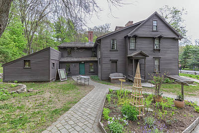 Louisa May Alcott Photograph - The Orchard House And The Little Woman Garden by Brian MacLean