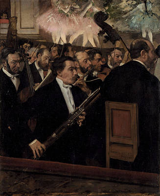 The Opera Orchestra Painting - The Orchestra At The Opera  1870 by Edgar Degas