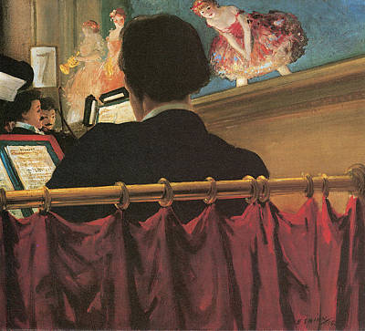 Orchestra Pit Painting - The Orchestra Pit by Everett Shinn