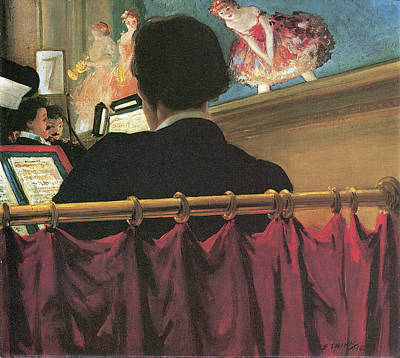 Music Score Photograph - The Orchestra Pit Old Proctors Fifth Avenue Theater by Everett Shinn