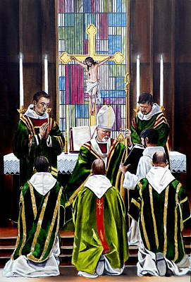Painting - The Ordination by RB McGrath