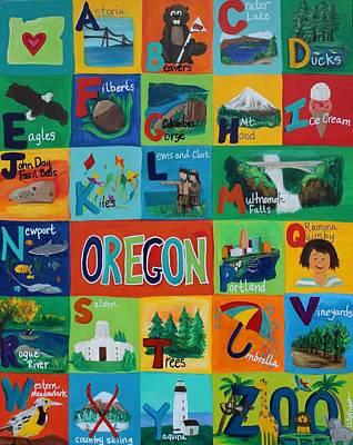 The Oregon Alphabet Original by Kelly Simpson