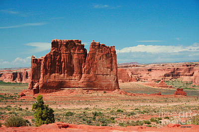 The Plateaus Painting - The Organ Arches National Park by Corey Ford