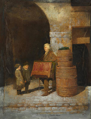 Negro Painting - The Organ - Grinder by Celestial Images