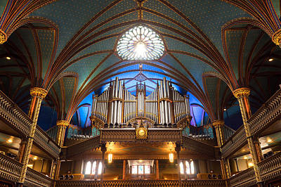 Photograph - The Organ Inside The Notre Dame In Montreal by For Ninety One Days