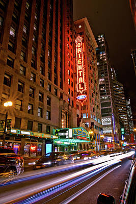 Photograph - The Oriental Theater Chicago by Linda Unger