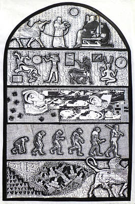 Cosmology Mixed Media - The Origin Of Feces by Tom Calderon