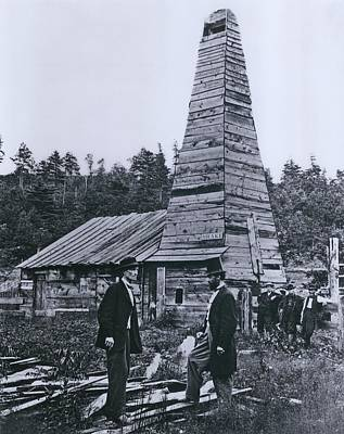 19th Century Photograph - The Original 1859 Drake Oil Well by Everett