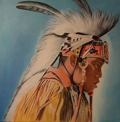 Abenaki Wall Art - Painting - The Original American by Ramonita Badillo