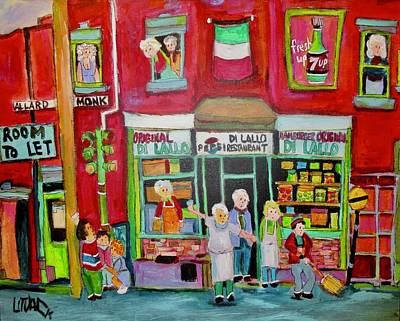 Painting - The Original Di Lallo Hamburger Monk And Allard by Michael Litvack