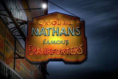 Photograph - The Original Nathan's Hotdogs At Coney Island by Mark Andrew Thomas
