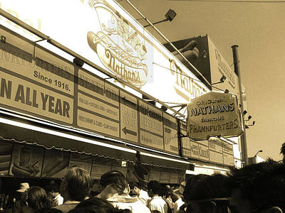 Nathans Famous Frankfurters Photograph - The Original Nathan's Coney Island by Bernadette Claffey
