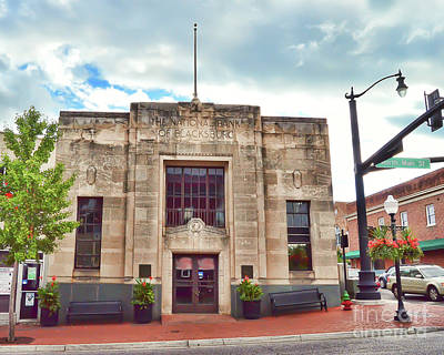 Photograph - The Original National Bank Of Blacksburg by Kerri Farley