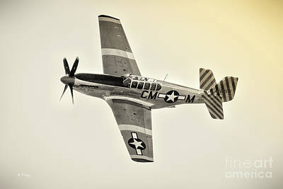 Photograph - The Original P-51 Mustang Bw by Rene Triay Photography