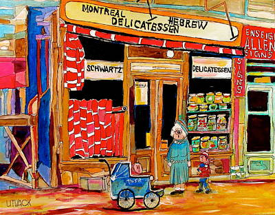 St. Lawrence Blvd Painting - The Original Schwartz's by Michael Litvack