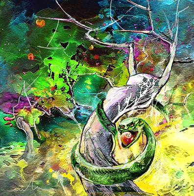 The Original Sin Art Print by Miki De Goodaboom