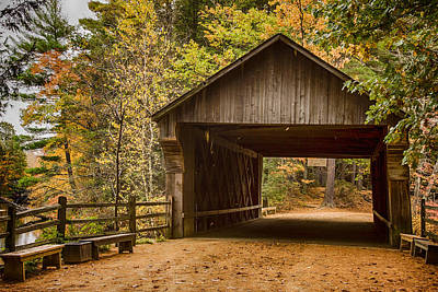 Photograph - The Original Taft Covered Bridge  by Jeff Folger
