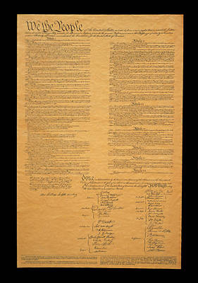 Political Photograph - The Original United States Constitution by Panoramic Images