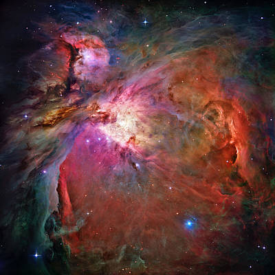 Photograph - The Orion Nebula In Detail by Steve Kearns