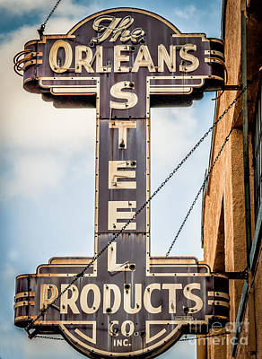 Photograph - The Orleans Steel Products Sign by Kathleen K Parker
