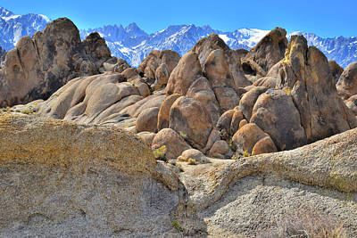 Photograph - The Ornate Boulders Of The Alabama Hills by Ray Mathis