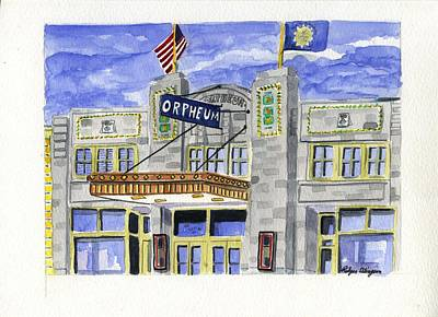 Painting - The Orpheum by Rodger Ellingson