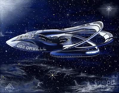 Drawing - The Orville by Murphy Elliott