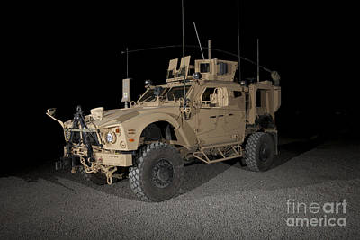 Armored Vehicle Photograph - The Oshkosh M-atv by Terry Moore