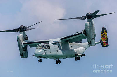 Photograph - The Osprey V-22 Tiltrotor Craft Marines by Rene Triay Photography