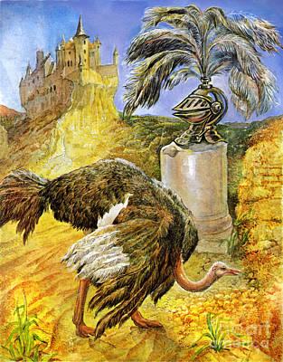 The Ostrich Art Print