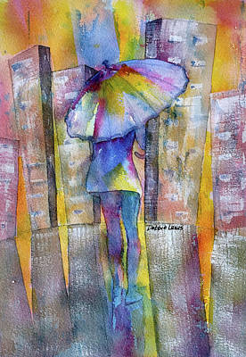 Painting - The Other Girl In The City by Debbie Lewis