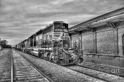 Photograph - The Other Iron Horse Locomotive 1637 Norfolk Southern by Reid Callaway