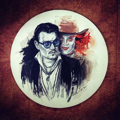 Mad Hatter Painting - The Other Me by Roxana Barbu