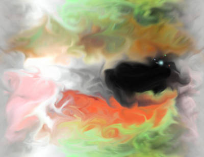 Contemporary Abstract Digital Art - The Other Side by John Krakora