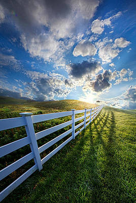 White Fence Photograph - The Other Side Of Somewhere by Phil Koch