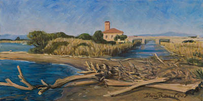 River Mouth Painting - The Outfall Of Ombrone River by Marco Busoni
