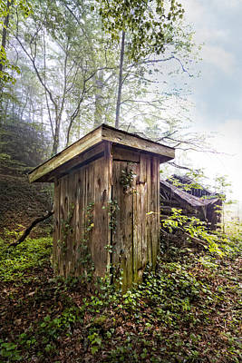 Old Wood Outhouse Photograph - The Outhouse by Debra and Dave Vanderlaan