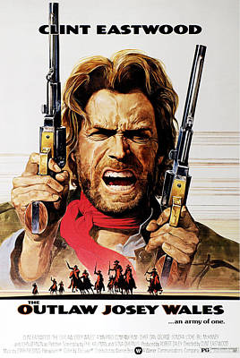 The Outlaw Josey Wales, Clint Eastwood Art Print by Everett