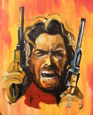 Painting - The Outlaw Josey Wales by Matt Burke