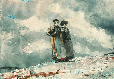 Painting - The Outlook Maine Coast by Winslow Homer