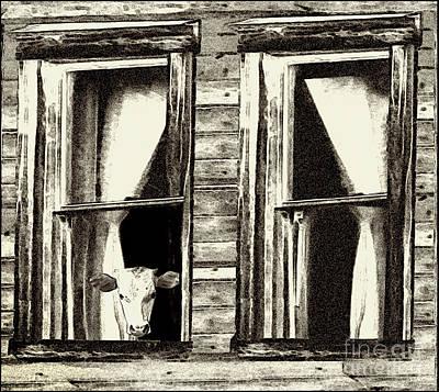 Barnyard Digital Art - The Outside Inn - Milkshakes On The House by Geordie Gardiner