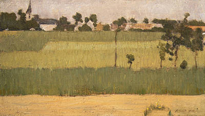 Painting - The Outskirts Of A Village by Edmond Aman-Jean