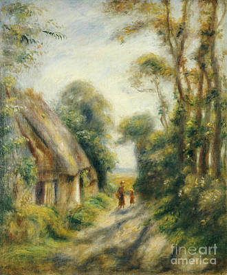 Women Together Painting - The Outskirts Of Berneval  by Pierre Auguste Renoir