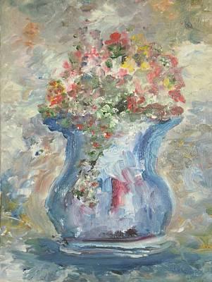The Oval Vase Art Print by Edward Wolverton