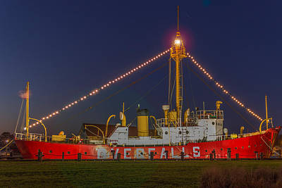 The Overfalls Light Ship, Delaware Print by Capt Gerry Hare