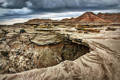 Photograph - The Overhang - Toadstool Geologic Park by Nikolyn McDonald