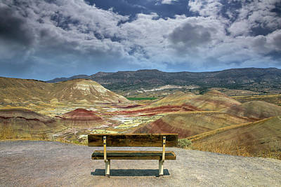 High Desert Photograph - The Overlook At Painted Hills In Oregon by David Gn