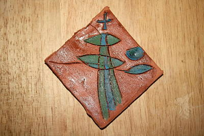 Ceramic Art - The Overseer  - Tile by Gloria Ssali