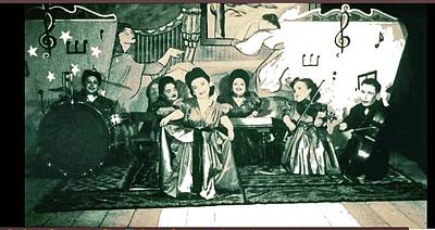 Musicians Royalty Free Images - The Ovitz family of dwarf musicians unknown date color added 2016 Royalty-Free Image by David Lee Guss